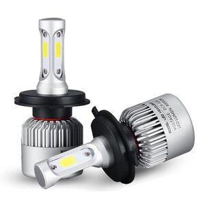 Eachine1 Pair 72W 8000LM COB LED Car Headlights Fog Lamps Bulbs H4 H7 H11 9005 9006 6500K White