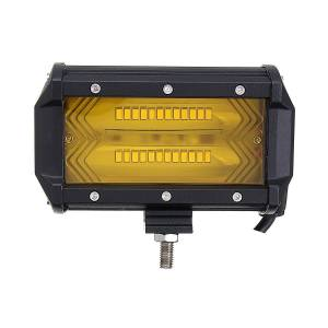jeep 5Inch 72W 1300LM LED Work Light Flood Spot Combo Fog Lamp Amber for Jeep Offroad SUV Boat