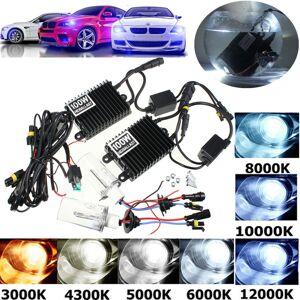 Eachine1 2Pcs 100W H1 Car Xenon Headlights Bulbs HID Lamp Kit with Ballast 4300K-12000K DC 12V