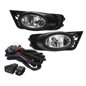 Honda 2PCS H11 55W Car Front Bumper Fog Lights Lamp for Honda Civic 4-Door Sedan 2009-2011