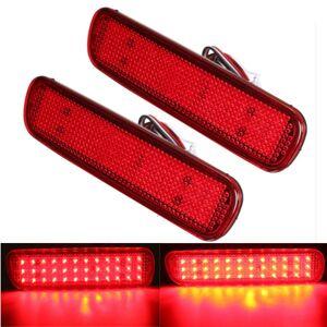 Eachine1 Pair LED Brake Tail Light Rear Bumper Reflector Fog Light  For Toyota Land Cruiser Lexus LX470
