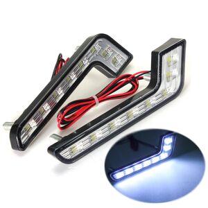 Eachine1 L Shape 5W LED DRL Daytime Running Lights Fog Lamp White for Benz C E S
