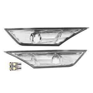 Honda 2Pcs Front Left Right Car Clear Lens Bumper Side Marker Lights Plate Lamp for Honda Civil 10TH 16-18