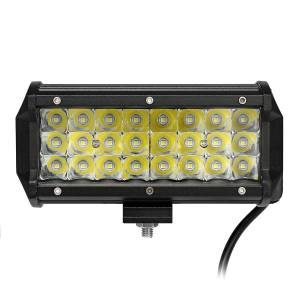 Eachine1 7 Inch Spot LED Work Light Bar Tri Row 3030 72W 6000K for Offroad 4WD SUV
