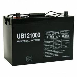 MX-121000-Union MX-121000, 12V, 100Ah, Sealed Rechargeable Battery. O