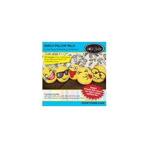 Designs by Hope Yoder Emojis Pillow Palz Embroidery CD w/SVG - Designs by Hope Yoder