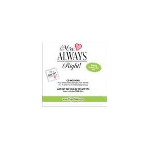 Designs by Hope Yoder Mr. Right & Mrs. Always Right Embroidery CD w/SVG - Designs by Hope Yoder