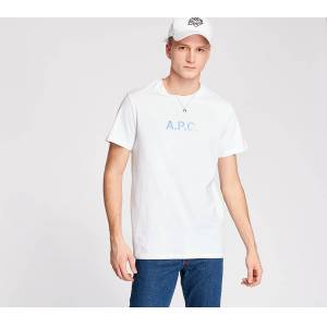 A.P.C. Stamp Tee White  - White - Size: Medium