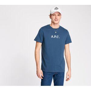 A.P.C. Stamp Tee Blue  - Blue - Size: Medium