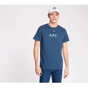 A.P.C. Stamp Tee Blue  - Blue - Size: Extra Large