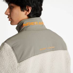 Under Armour Legacy Sherpa Swacket Highland Buff/ Brown Umber/ Vibe Orange  - Beige - Size: Medium