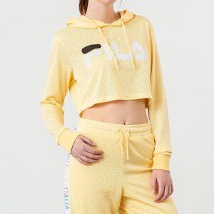 FILA Noemi Cropped Hoodie Pale Banana  - Yellow - Size: Large
