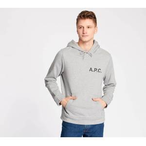 A.P.C. Stamp Hoodie Gris Chine  - Gray - Size: Extra Large