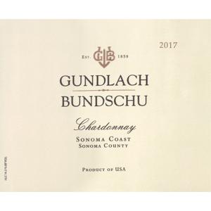 Gunderlach Bunchschu Gundlach Bundschu Estate Chardonnay Sonoma County 2017