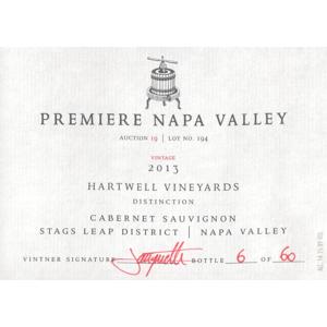 Hartwell Premiere Napa Valley Hartwell Cabernet Sauvignon Distinction 2013