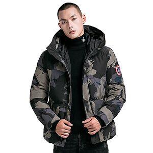 Latest Custom Printed Hooded Winter Black Coat Mens Fashion Puffer Bomber Padded Jacket Coat