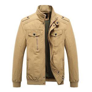 2019 Wholesale Men's Casual Winter Cotton Military Jackets Windproof Windbreaker Outdoor Coat mens bomber jacket