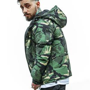New men's cotton padded hooded camouflage coat winter  quilt jacket