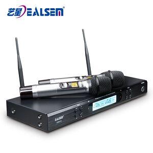 UHF dual channel cheap wireless microphone for karaoke