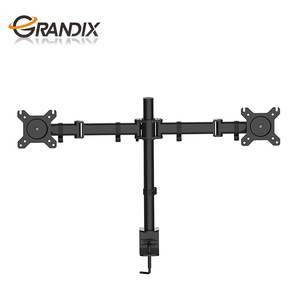 Office Use Support 15 To 30 Inch Table Triangle TV Stand Mount Dual Monitor Arm For Aluminum Arms