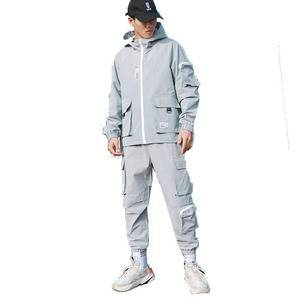 high quality brand simple design running sports suit for men long sleeve suits custom logo oem
