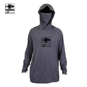 Men's  Custom Logo fishing shirt uv protection hood with pull up sun mask  long sleeve Fishing Shirt