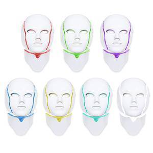 2019 New Product Led Masker 7 Color Photon Therapy Electric Heating Face Led Mask For Facial Treatment