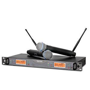 Professional Uhf Wireless Microphone System For Karaoke