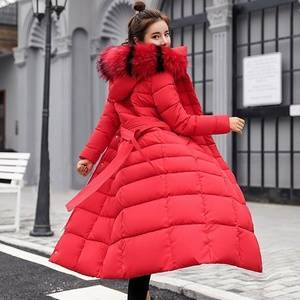 ecowalson Winter Women's Down Coat 2018 New Clothes Cotton-Padded Thickening Down Winter Coat Long Jacket