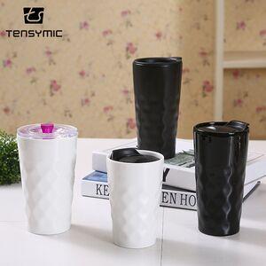 Tensymic chaozhou factory custom travel ceramic cute coffee travel mugs