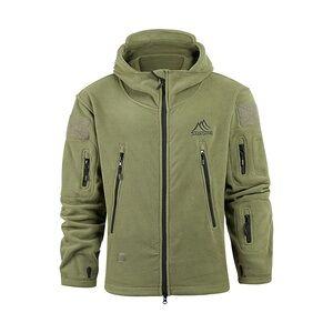 Men's Waterproof Windproof  Fleece softshell military jacket Coat with Hood