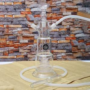 Thick glass hookah customized chicha narguile led shisha