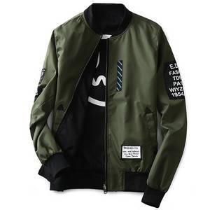 Men's New Double-faced Flight Suits Mens Jackets And Coats Fashion Brand Casual Cotton Long-sleeved Men Jacket