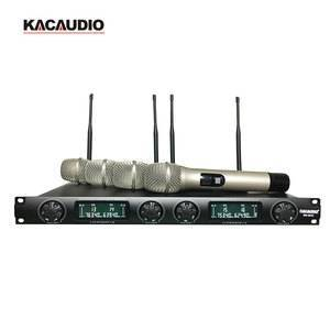 Professional 4 Channel Karaoke Microphone Handheld Wireless Microphone