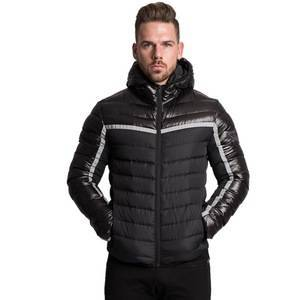 Muscle men winter 2018 new outdoor loose cardigan and cotton-padded jacket men's gym coat