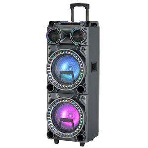 Popular Karaoke dual 10 inch Bluetooth Wireless Box Speaker with LED Light