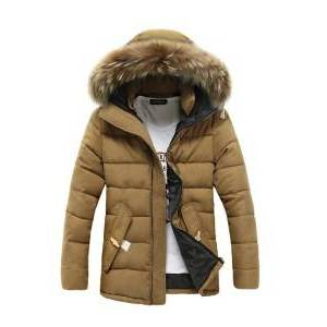 Winter Mens Trench Coat Korean Slim Velvet Thicken Hooded Men Coat