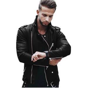5XL Men's Motorcycle PU Leather Jackets Men Leather Autumn Winter Slim Fit Jackets Male Business Fitness Casual Coats