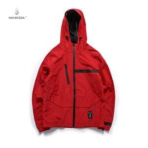 2019 hot clothing men's bomber jacket hoodie windbreaker jacket red black thin pure print men's jackets coats xx