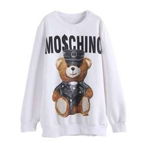 Network red with the same super-hot lazy wind 3D hot stamping round collar cartoon long women's coat