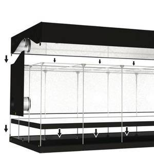 OUTLETS!  Size 6x3x2m 600D mylar brand indoor grow tent in stock