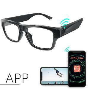 Mini Spy Camera Equipment Live Streaming Glasses HD 1080P High Tech P2P Eyeglasses Camera One Touch Video Recording