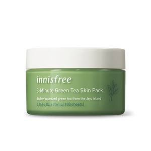 Korean Skin Care INNISFREE 3-Minute Green Tea Skin Pack  70ml
