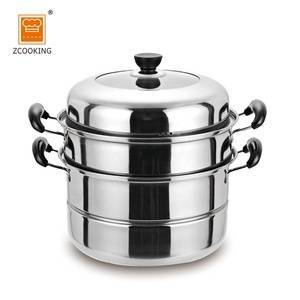 36cm Kitchenware Stainless Steel Cookware Set Steamer Pot