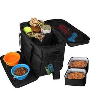 Portable Dog Outdoor Bag Pet Food Package Bag Foldable Dog Bag Travel Pet Treat Toy Carrier
