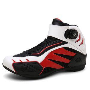 low price Men Biker Waterproof Motocross Boots Non-slip women Motorcycle Shoes