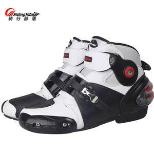 Motorcycle Boots Biker Waterproof Speed Motocross Racing Shoes Men/Women Soft Non-slip Protective Riding bota motociclista