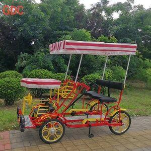 Luxury One Piece Wheel 2 Person 2 Seat 4 Wheel Tandem Bike Bicycle Bici 4  Ruote