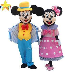 Funtoys CE cartoon mickey and minnie mascot costume for adult