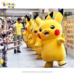 Enjoyment CE Cute japan cartoon character pikachu mascot costumes/used pikachu mascot costumes for sale